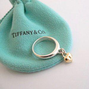 Tiffany & Co Heart Lock Dangle Ring